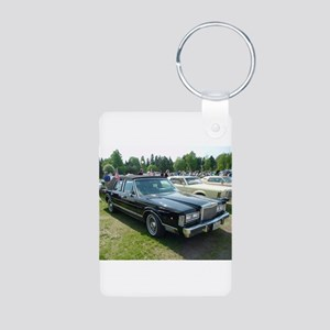 Town Car Aluminum Photo Keychain