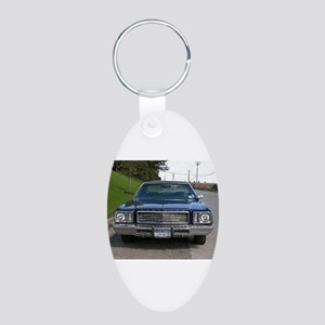 73 Grand Fury Aluminum Oval Keychain