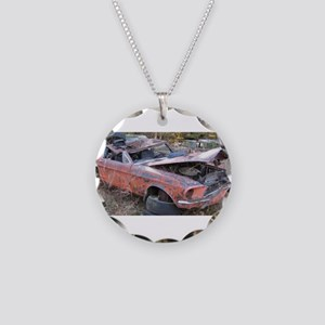 67 Mustang Fastback Necklace Circle Charm