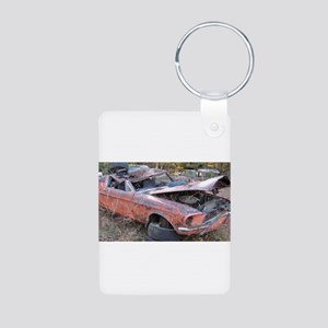 67 Mustang Fastback Aluminum Photo Keychain