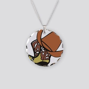 Cowboy Hat & Boots Necklace Circle Charm