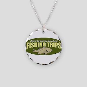 Fishing Trip Necklace Circle Charm