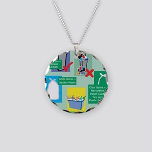 Compilation Necklace Circle Charm