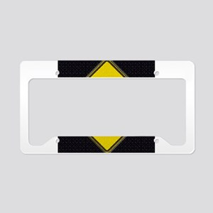 Bus Stop Black License Plate Holder