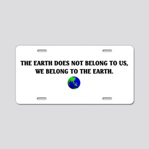 Mother Earth Aluminum License Plate
