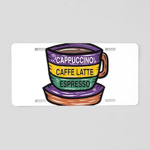 Cappacino Aluminum License Plate