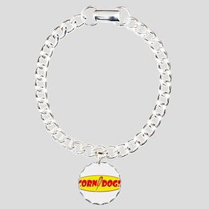 Corn Dogs Charm Bracelet, One Charm