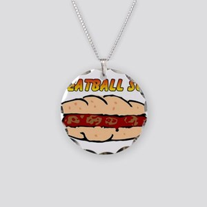 Meatball Sub Necklace Circle Charm
