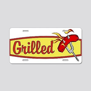 Grilled Food Aluminum License Plate