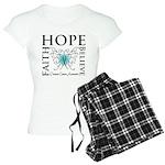 Ovarian Cancer Butterfly Women's Light Pajamas