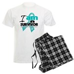 I'm a Survivor Ovarian Cancer Men's Light Pajamas