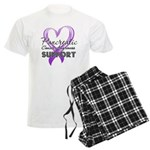 Pancreatic Cancer Men's Light Pajamas