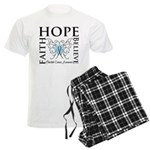 Hope Faith Prostate Cancer Men's Light Pajamas