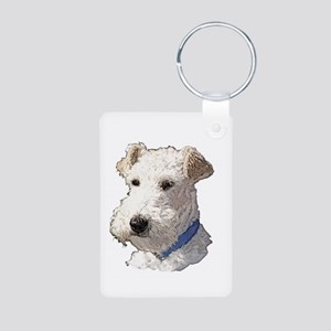 Wire Fox Terrier Aluminum Photo Keychain