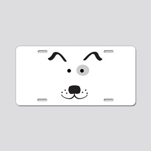 Cartoon Dog Face Aluminum License Plate