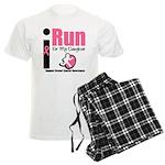 I Run For Breast Cancer Men's Light Pajamas