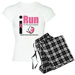 I Run For Breast Cancer Women's Light Pajamas