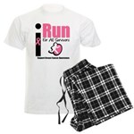 I Run For Breast Cancer Men's Light Pajamas