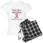 BreastCancerPink Women's Light Pajamas