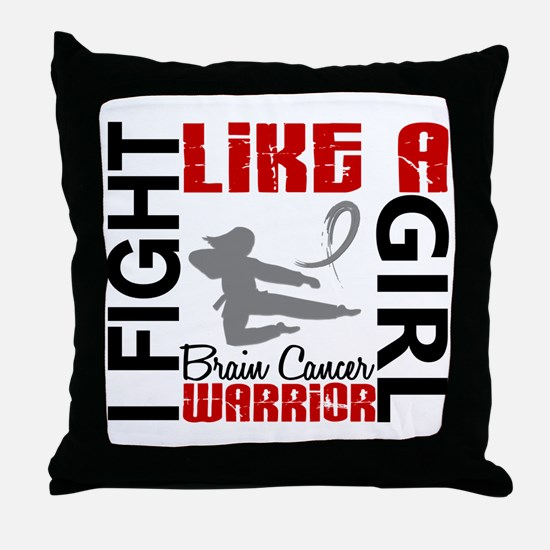 Licensed Fight Like a Girl 3.2 Brain Throw Pillow