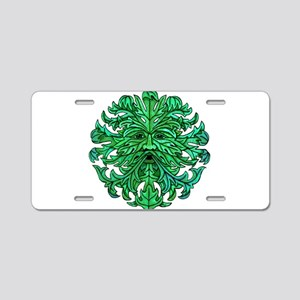 Green Man Gaze Aluminum License Plate