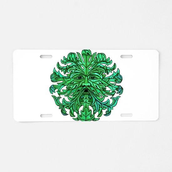 Green Man Gaze Aluminum License Plate