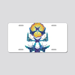 Imbolc Butterflies Aluminum License Plate