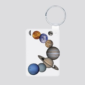 Planet Swirl Aluminum Photo Keychain