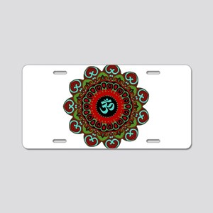 Om of Chaos Aluminum License Plate