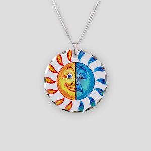 BiPolar Solar Necklace Circle Charm