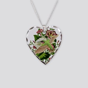 Morning Glory Necklace Heart Charm