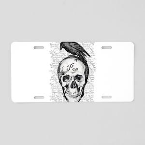 Raven Poe Aluminum License Plate
