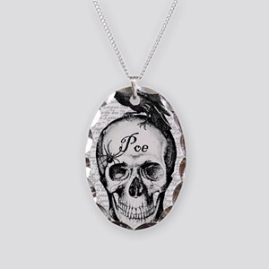 Raven Poe Necklace Oval Charm