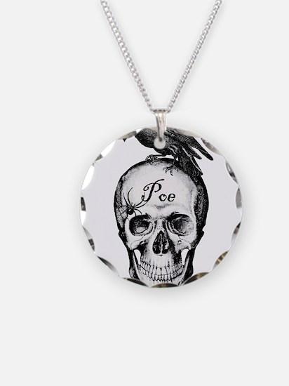 Raven Poe Necklace Circle Charm