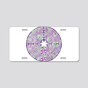 Chartres Labyrinth Bubble Aluminum License Plate