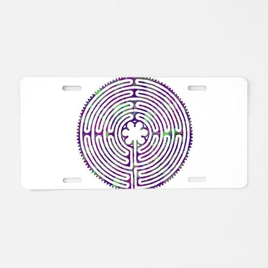 Chartres Labyrinth Bubble Aluminum License Plate