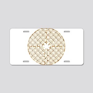 Chartres Labyrinth Pearl Aluminum License Plate