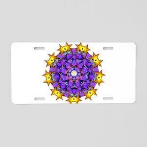 Dharma Wheel Aluminum License Plate
