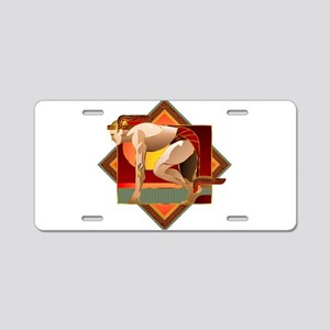 On Wings Aluminum License Plate