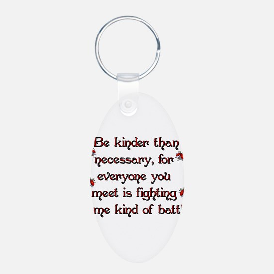 Be Kinder Aluminum Oval Keychain