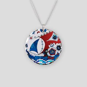 Danish Seas Necklace Circle Charm