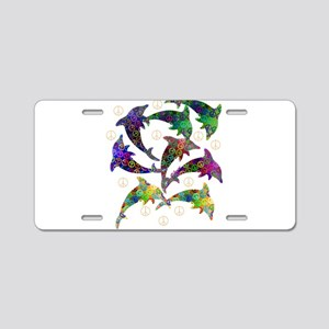 Dolphin Peace Group Aluminum License Plate