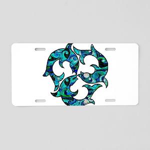 Swirl Aluminum License Plate