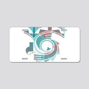Turquoise Dawn Aluminum License Plate