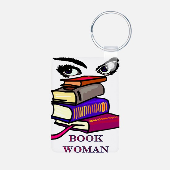 Book Woman Keychains
