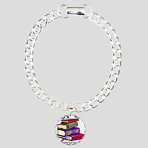 Book Woman Charm Bracelet, One Charm
