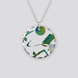 Four Rs Green Reader Necklace Circle Charm