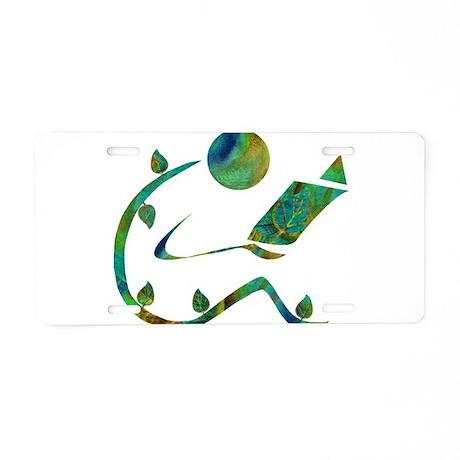 Green Reader Aluminum License Plate