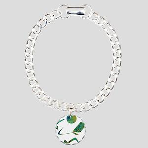 Green Reader Charm Bracelet, One Charm