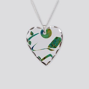 Green Reader Necklace Heart Charm